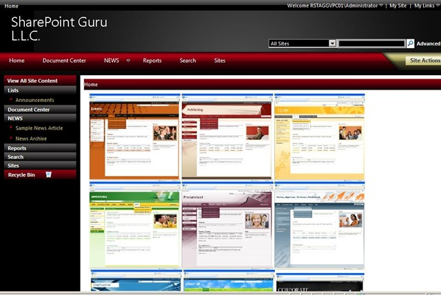 Sharepoint 2010 Site Templates Gallery - Template Design Ideas